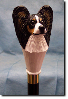Papillon Dog Breed Walking Stick