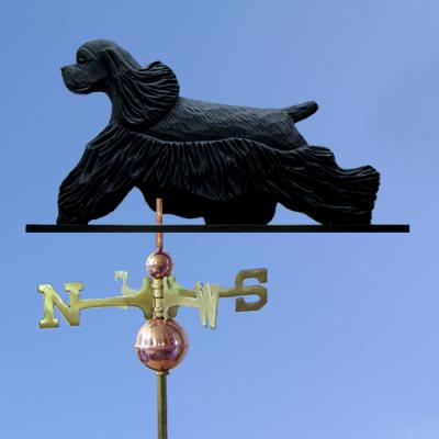 Am Cocker Spaniel Dog Weathervane - Black