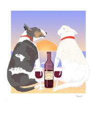 Bull Terrier Sunset Dogs