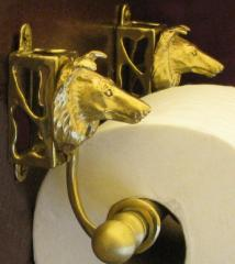Collie Bronze Paper Holder