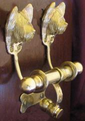 Skye Terrier Deluxe Dog Breed Door Knockers