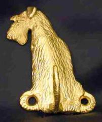 Airedale Terrier Bronze Dog Hook