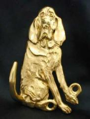 Bloodhound Bronze Dog Hook