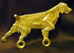 Brittany Bronze Dog Hook