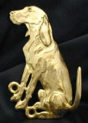 Black and Tan Coonhound Bronze Dog Hook