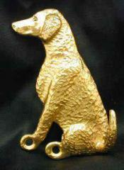 Curly Coated Retriever Bronze Dog Hook