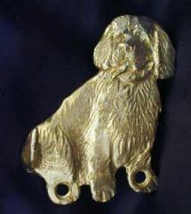 Clumber Spaniel Bronze Dog Hook