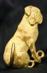 Dogue of Bordeaux Bronze Dog Hook