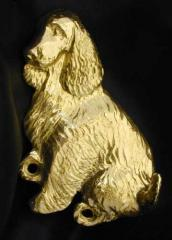 English Cocker Spaniel Bronze Dog Hook