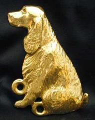 English Springer Spaniel Bronze Dog Hook
