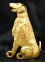 Flat Coated Retriever Bronze Dog Hook