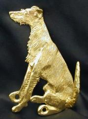 Lurcher Bronze Dog Hook