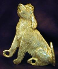 Otterhound Bronze Dog Hook