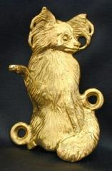 Papillon Bronze Dog Hook