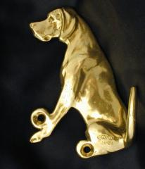 Pointer Bronze Dog Hook
