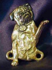 Pug Bronze Dog Hook