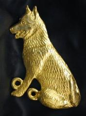 Siberian Husky Bronze Dog Hook