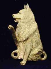 Schipperke Bronze Dog Hook