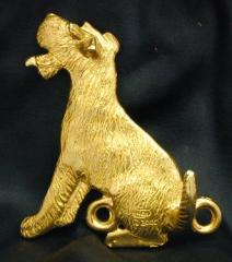 Fox Terrier - Wire Bronze Dog Hook
