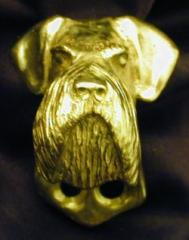 Schnauzer Giant Natural Deluxe Dog Breed Door Knockers
