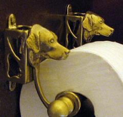 Golden Retriever Bronze Paper Holder