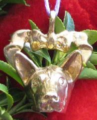 Basenji Bronze Ornament