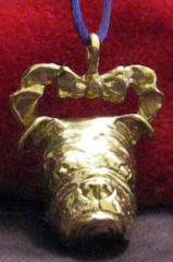 Bulldog Bronze Ornament