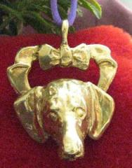 Dachshund, Smooth Hair Bronze Ornament
