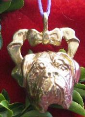 Dogue de Bordeaux Bronze Ornament