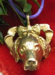 Golden Retriever Bronze Ornament