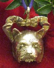 Norwich Terrier Bronze Ornament