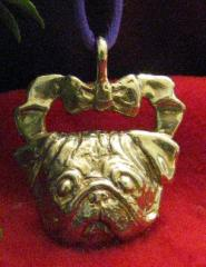 Pug Bronze Ornament
