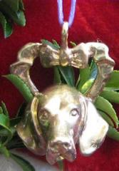 Weimaraner Bronze Ornament