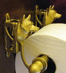 Schipperke Bronze Paper Holder