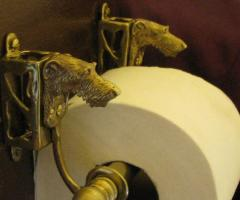 Scottish Deerhound Bronze Paper Holder