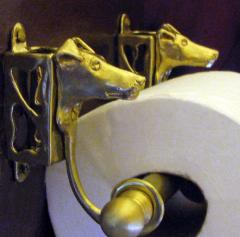 Smooth Fox Terrier Bronze Paper Holder