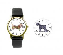 Black Russian Dog Breed Wrist Watch