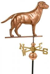 Copper Labrador Retriever Weathervane