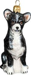 Chihuahua (Black/White) Glass Dog Ornament