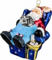Cat Nap Holiday Ornament
