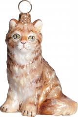 Red Maine Coon Cat Ornament