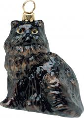 Black Persian Cat Ornament