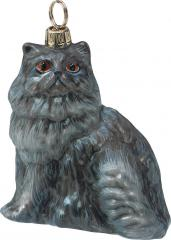 Blue Persian Cat Ornament