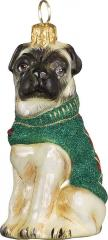 Pug w/Argyle Sweater