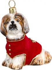 Shih Tzu w/ Red Velvet Coat
