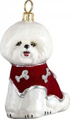 Bichon Frise <br /> w/Red Velvet Coat