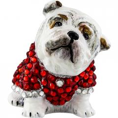 Diva Dog Bulldog in Crystal Encrusted Coat