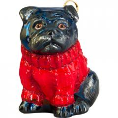 Pug w/Red Sweater