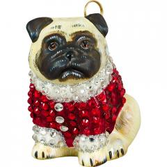 Pug in Full Crystal Coat