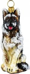 German Shepherd (Snowy) Dog Ornament